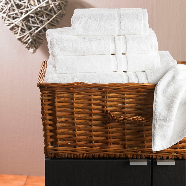 Laundry Towels Bath Mats 650 Gsm White Quality