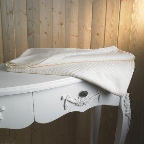 Thermal Flame Retardant Blanket - Cream - Single Bed