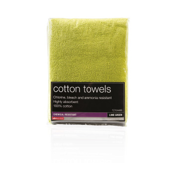 Salon Services Bleach Resistant Towel Lime Pack of 12