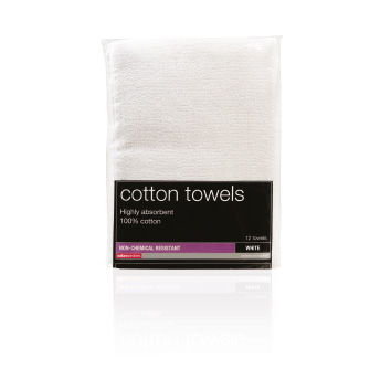 Salon Services Non-Bleach Resistant Towel White Pack of 12
